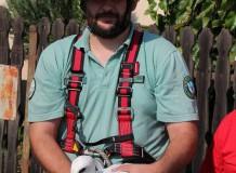 Fehér gólya mentése Tiszacsegén